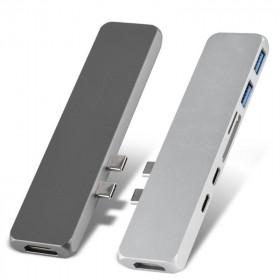 USB-C Adapter Hub Met Thunderbolt 3 & Usb2.0 & Card Reader HDMI voor Apple MacBook Pro 2017-2018